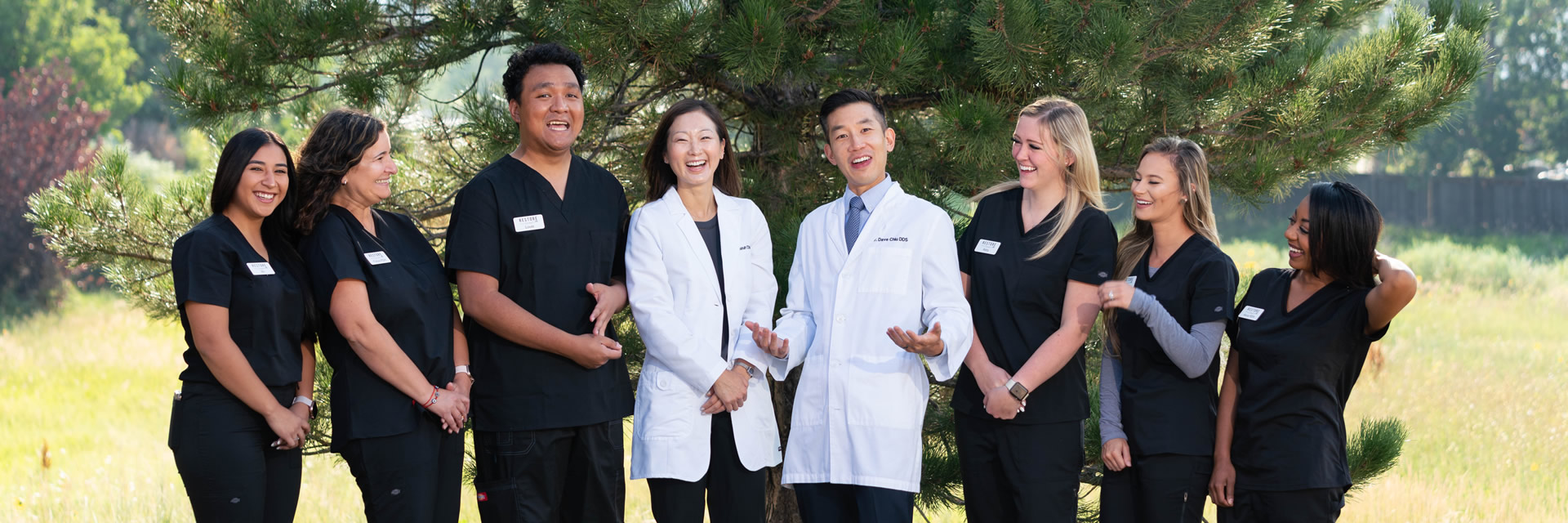 A team of dentists and office staff